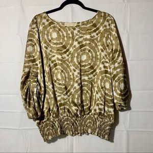MICHAEL Michael Kors plus size blouse tie dye